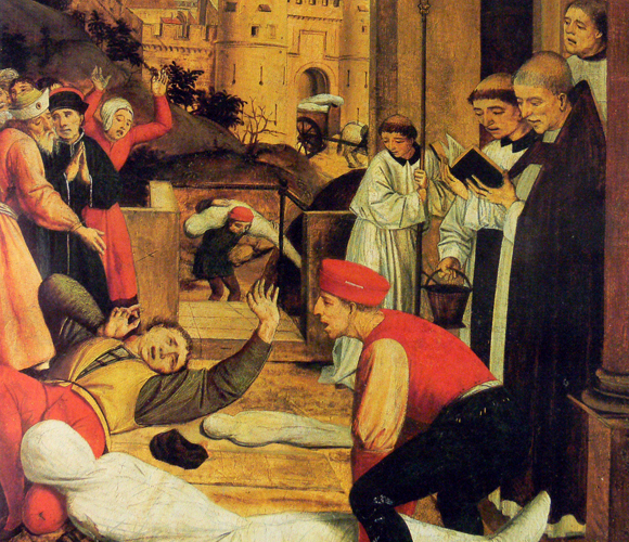 המגפה היוסטינאינית, ציור של Josse Lieferinxe | ויקיפדיה, Fingalo