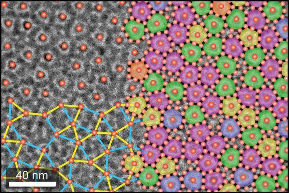 צביעות שונות של צילום במיקרוסקופ אלקטרונים של החומר החדש ממחישות את תכונותיו | מקור: Chen Lab / Brown University