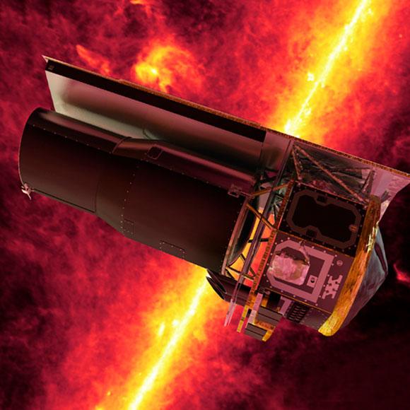 אילוסטרציה של ספיצר, NASA , JPL
