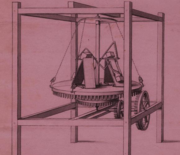 המכונה לא הניעה את המוט, הוא הניע אותה. דיאגרמה של המכונה של רדהפר | Majorly, Wikipedia