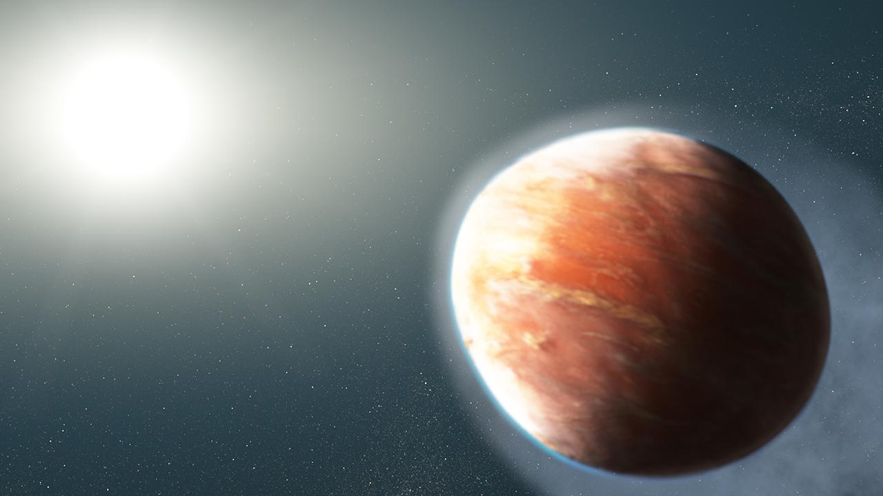 אילוסטרציה של כוכב הלכת בצורת הפוטבול