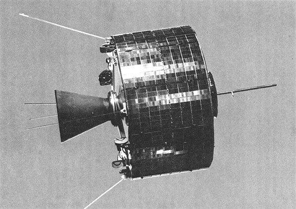 Moderner experimenteller Kommunikationssatellit aus der Reihe Syncom | Foto: NASA, gemeinfrei