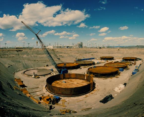 """אתר הטמנה בשלבי בנייה בהנפורד בארה""""ב   צילום: משרד האנרגיה של ארה""""ב, Science Photo Library"""