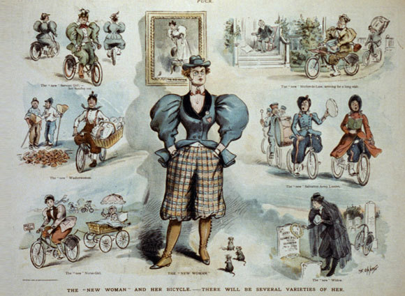 Bicycles and bloomers | Illustration: Frederick Borr, public domain