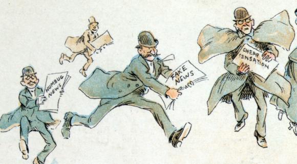 קריקטורה של עיתונים המוכרים ידיעות מזויפות | ויקיפדיה, Frederick Burr Opper