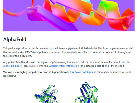 מערכת קיפול אלפא, שכעת אפשר להוריד את התוכנה שלה   מקור: deepmind/alphafold