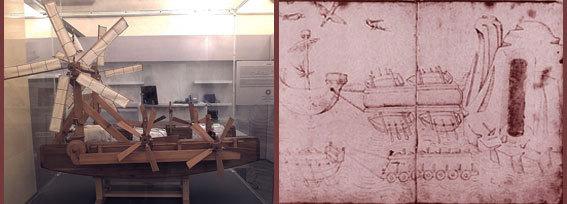 תכנית הבנייה של ברונלסקי ודגם של הספינה | מקור: tpholland, ויקיפדיה, נחלת הכלל