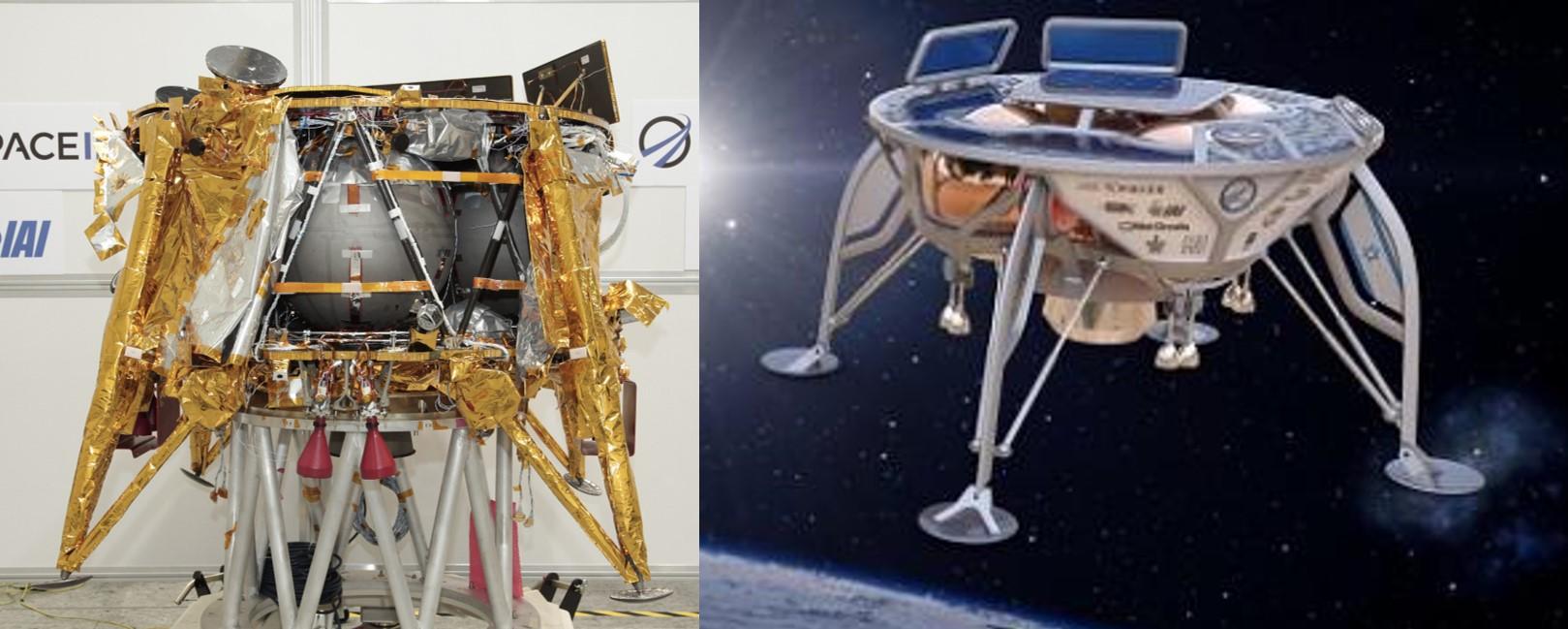 שמיכת זהב מקומטת במקום דפנות מעוצבות. העיצוב המקורי (מימין) לעומת החללית האמיתית | מקור: SpaceIL