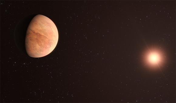 כוכב הלכת שהתגלה, בעיני אמן. איור: ESO/M. Kornmesser