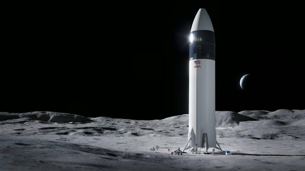 הדמיה של החללית, קרדיט: SpaceX, NASA