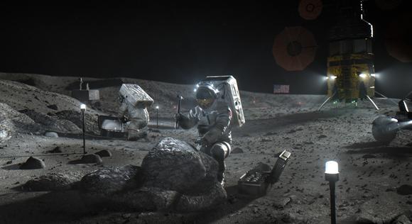 אסטרונאוטים על הירח בתוכנית ארטמיס | הדמיה: NASA