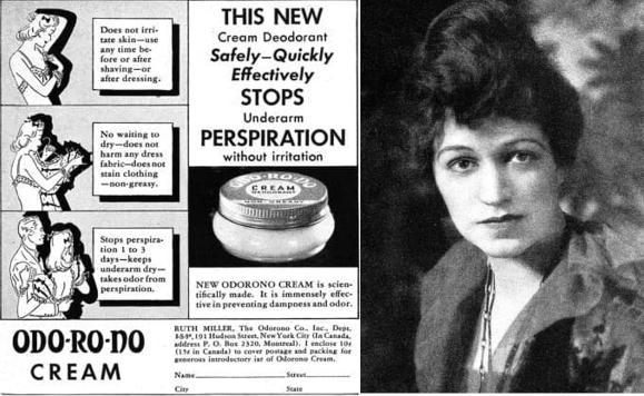 מרפי ומודעת פרסומת לדאודורנט שלה, משנות ה-30 | מקור: cosmeticsandskin