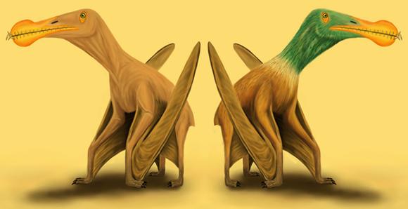 מראה אפשרי של פטרוזאור | איורים: Megan Jacobs, University of Portsmouth