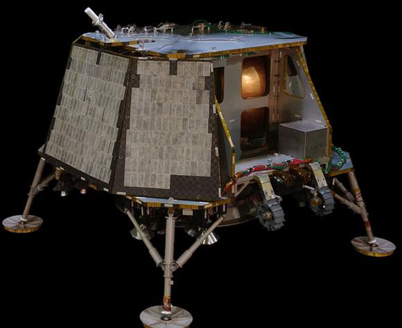 הדמיית החללית של חברת Orbit Beyond שאמורה לנחות על הירח כבר בספטמבר 2020 | מקור: Orbit Beyond