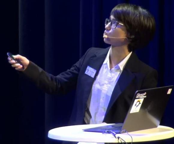 חוויה שנותנת כיוון בחיים. אורית שחר מציגה את מחקרה במסגרת אירועי פרס נובל בשבדיה | צילום: SIYSS