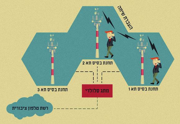 תרשים של מבנה הרשת הסלולרית | מריה גורוחובסקי, לפי תרשים של Neudorf בויקיפדיה