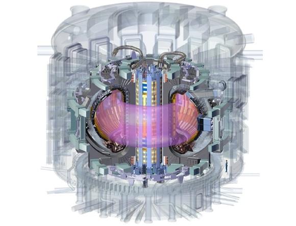 איור של המגנט המרכזי בכור ITER קרדיט: US ITER