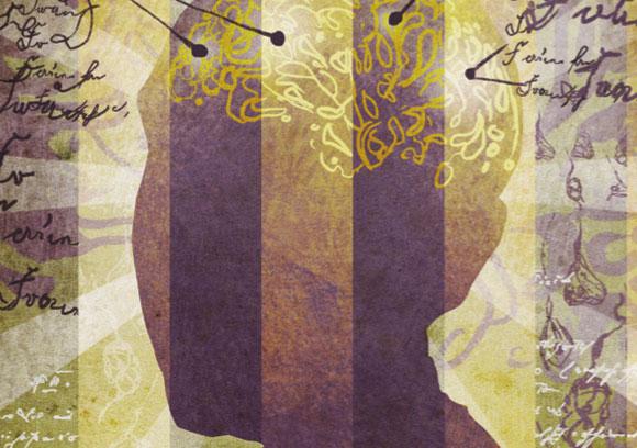 אילוסטרציה לאלצהיימר. עובדות חגות סביב מוח