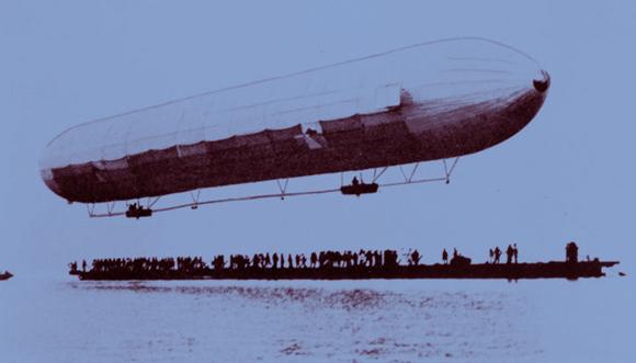 17 דקות של טיסה שפתחו עידן חדש. הצפלין הראשון ממריא לטיסת הבכורה שלו | מקור: תולדות הצפלין, נחלת הכלל