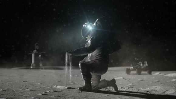 אסטרונאוט של תוכנית ארטמיס על הירח | הדמיה: NASA