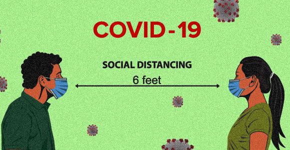 המרחק המרבי להדבקה טיפתית בשיעול - שני מטרים | איור: Curves design, Shutterstock