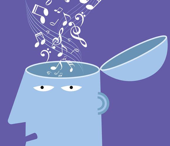 אילוסטרציה של מוזיקה נכנסת למוח | Shutterstock, fandijki