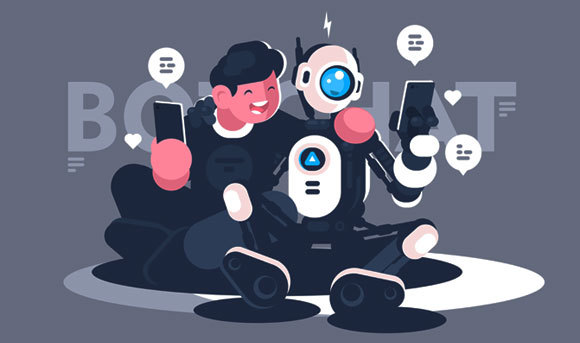 אילוסטרציה של אדם ובוט מתכתבים ביניהם | Kit8.net, Shutterstock