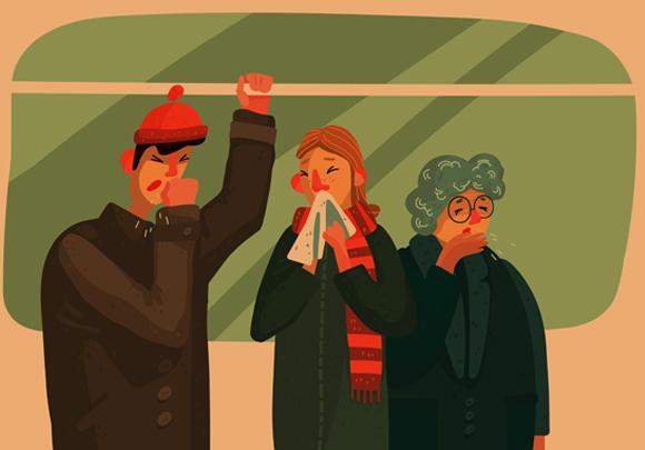 הקור לא גורם לנו ישירות לחלות יותר, הוא פשוט מסייע לנגיפים לשרוד ולהתפשט מאדם לאדם | איור: Shutterstock
