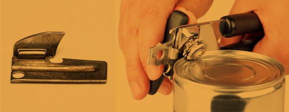 פותחני קופסאות שימורים, כמו מספריים, מעוצבים בעבור ימניים, לא שמאליים | צילום: Shutterstock