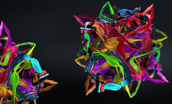 מבנה תלת-ממדי של חלבון | איור: Christoph Burgstedt, Shutterstock
