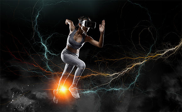 Sprinterin mit Virtual Reality-Brillen | Foto: sutadimages, Shutterstock