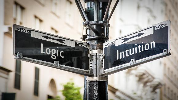 לא מדובר בהכרח בכיוונים מנוגדים, האינטואיציה יכולה דווקא ללכת עם ההיגיון | איור: Pixelvario, Shutterstock
