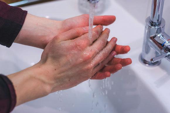 שטיפת ידיים בסבון ומים חשובה ויעילה יותר מנוזל חיטוי | צילום: Patrick Daxenbichler, Shutterstock