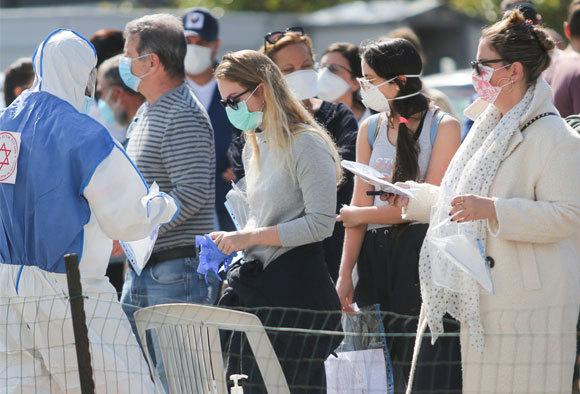אנשים בבדיקות רפואיות, ישראל, מרץ 2020 | shutterstock, abu adel - photo