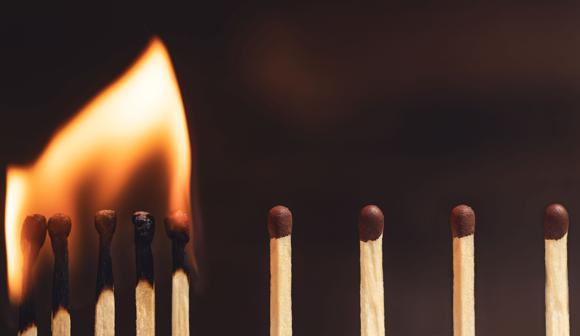 אילוסטרציה של ריחוק פיזי המונע הדבקה | Shutterstock, galsand