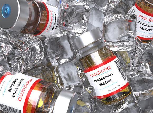 החיסון של מודרנה בקרח | צילום: Giovanni Cancemi, Shutterstock