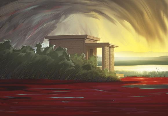 היאור שנצבע אדום במכת הדם | איור: joshimerbin, Shutterstock