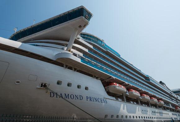 ספינת התענוגות דיאמונד פרינסס, אחד ממוקדי התחלואה הראשונים שנבדקו בצורה מקיפה. קרדיט צילום: Shutterstock Joel 420