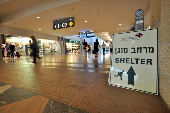 מרחב מוגן בנמל התעופה בן גוריון | צילום: Wojtek Chmielewski, Shutterstock