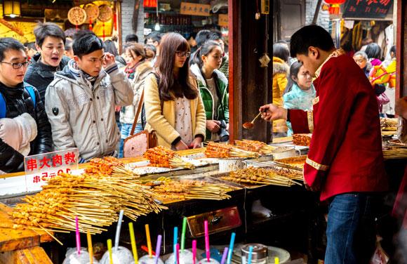 שוק אוכל בסין