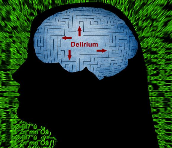 איור דליריום כחיצים מבלבלים במוח