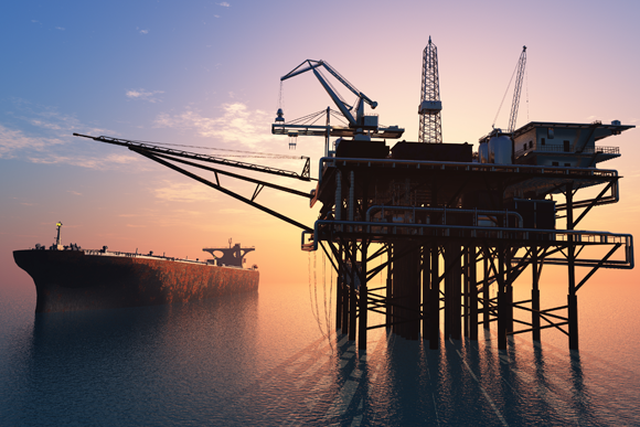 An offshore gas rig | Shutterstock, iurii