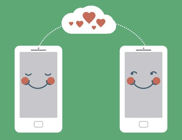 טלפון חכם ומאוהב | איור:  Zubada, Shutterstock