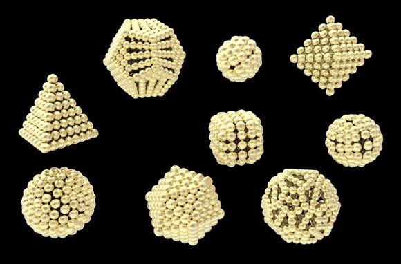 צורות שונות של ננו-חלקיקי זהב | Katerina Kon, Shutterstock