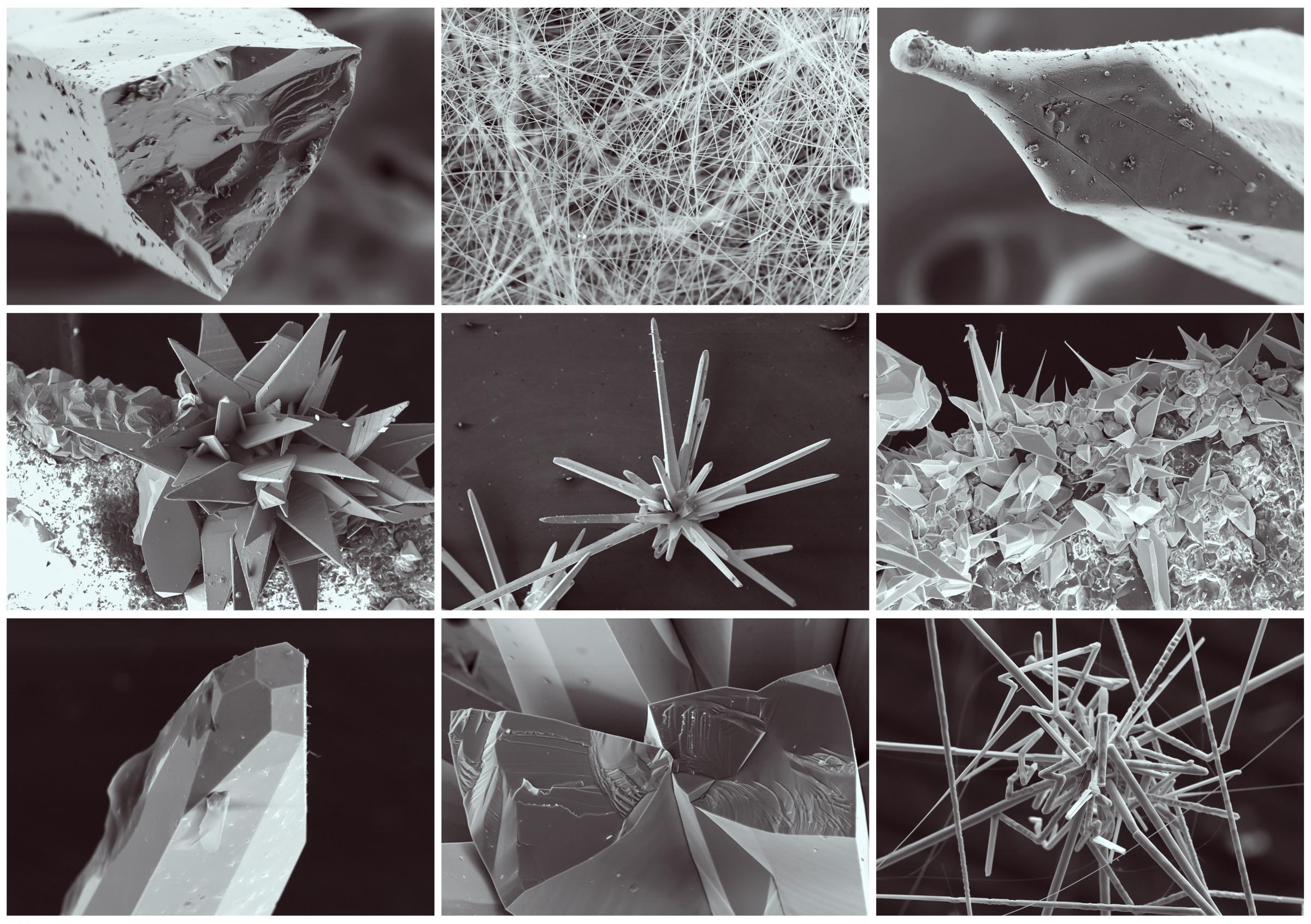 חומר חשוב בייצור רכיבים לתעשיית האלקטרוניקה. גבישים של גליום ארסניד בצילומי מיקרוסקופ אלקטרונים | מקור: Shutterstock