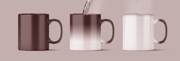 כוס תרמית משנה צבע כאשר מוזגים לתוכה מים רותחים | Shutterstock, AlexandrBognat