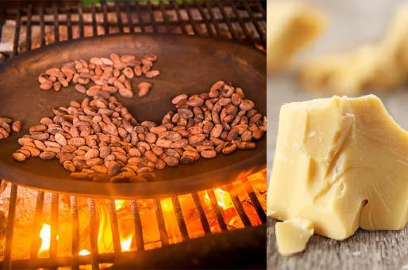 אחריה אפשר להפריד את חמאת הקקאו (מימין) | צילום:  Fotos593, Shutterstock