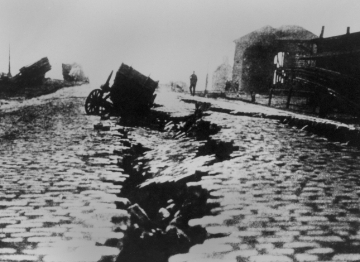 הרעש ההרסני ביותר בתולדות ארצות הברית. נזק מרעידת האדמה בסן פרנסיסקו ב-1906 | צילום: Shutterstock