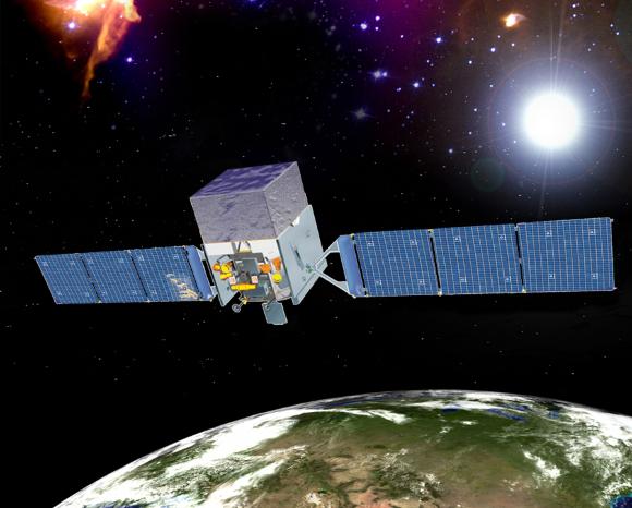 """טלסקופ קרני הגמא """"פרמי"""" ששוגר לחלל ב-2008   הדמיה: NASA"""