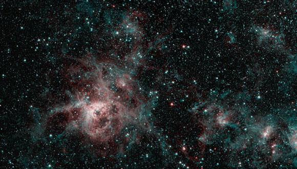 תמונה של נבולת טרנטולה שצילם טלסקופ ספיצר  | קרדיט: NASA